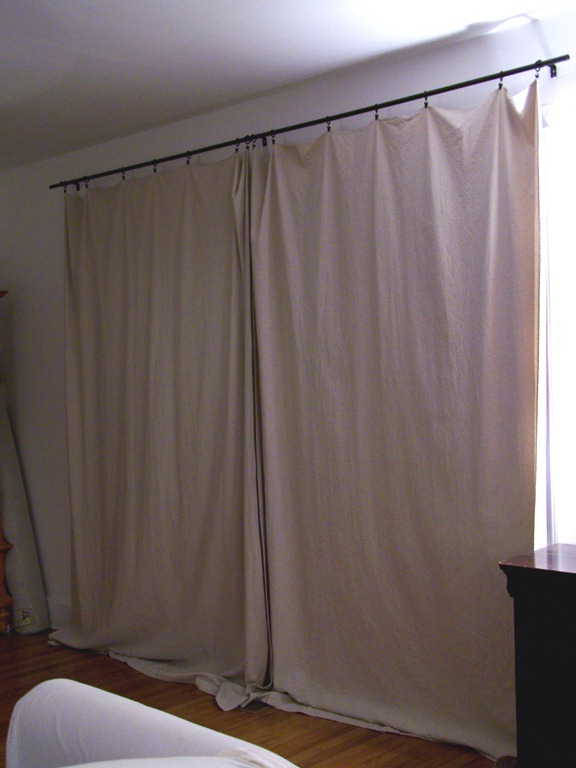 Green And Frugal Decorating Ideas My Inexpensive Curtains