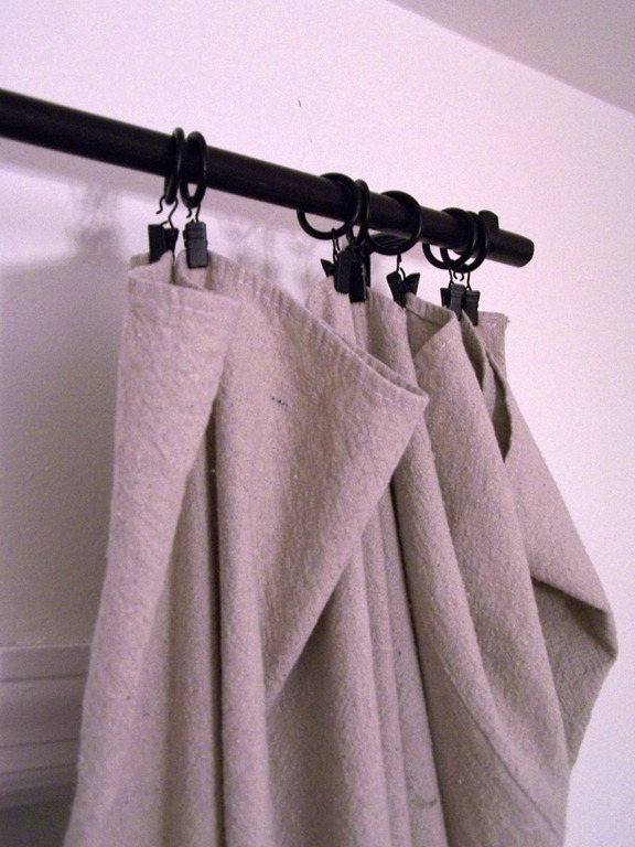 Green and Frugal Decorating Ideas: My Inexpensive Curtains ...